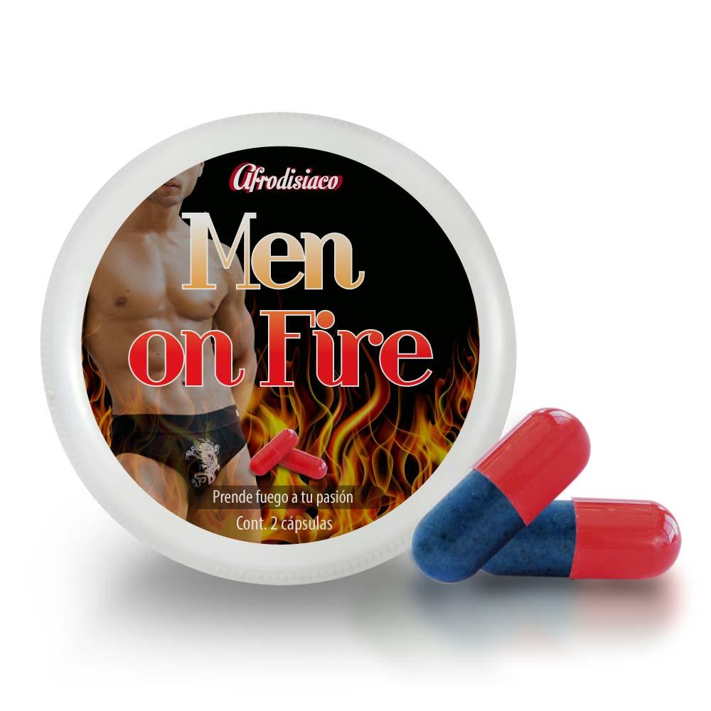 VIGORIZANTE AFRODISIACO MEN ON FIRE CAPSULAS 2 MASCULINO