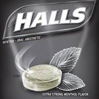 Halls Extra Strong (Negras). Individuales 1 pz (Especial frescura para sexo oral)