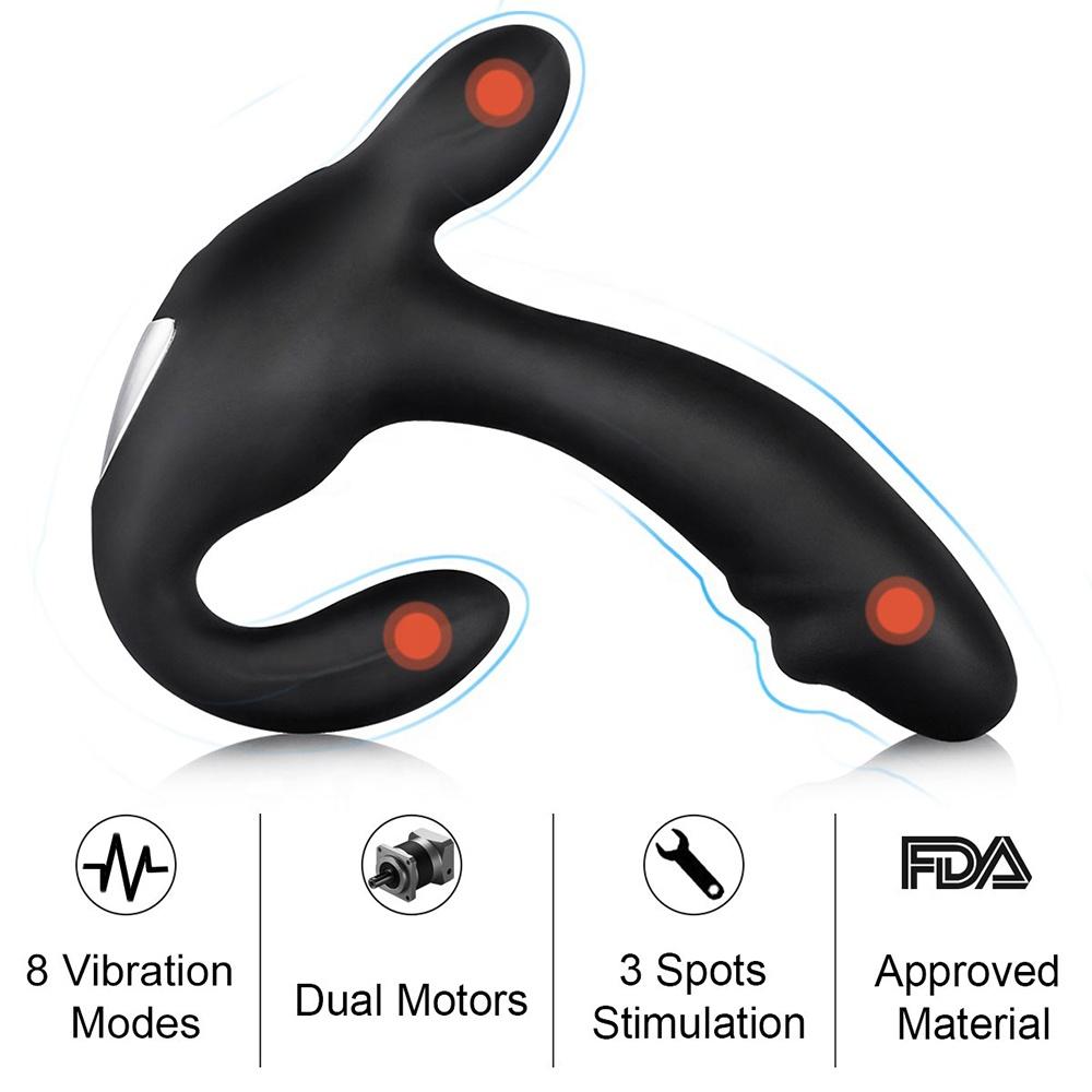 masajeador de prostata a control remoto 702