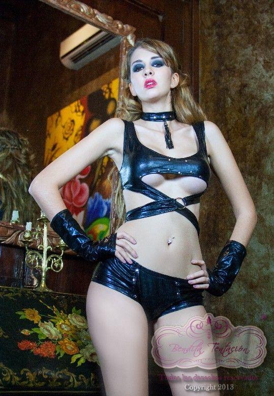 4pz Sexy disfraz de gatita peligrosa Unitalla